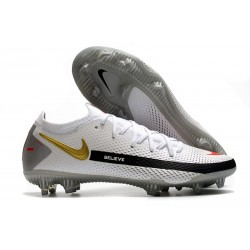Nike Phantom GT Generative Texture Elite FG Blanc Noir Or