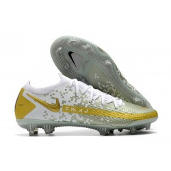 Nike Phantom GT Generative Texture Elite FG Or Blanc