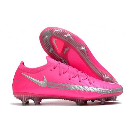 Chaussures 2021 Nike Phantom GT Elite FG Rose Argent
