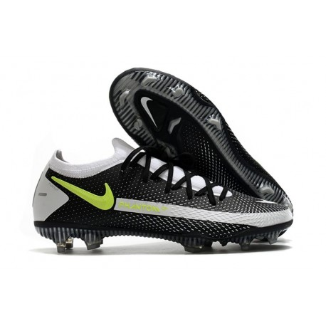 Chaussures 2021 Nike Phantom GT Elite FG Noir Gris Jaune