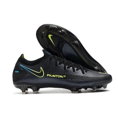 Chaussures 2021 Nike Phantom GT Elite FG Noir Vert