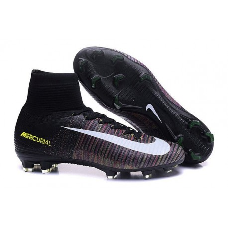 Chaussure de Football à Crampons - Nike Mercurial Superfly 5 FG - Noir Rose Blanc