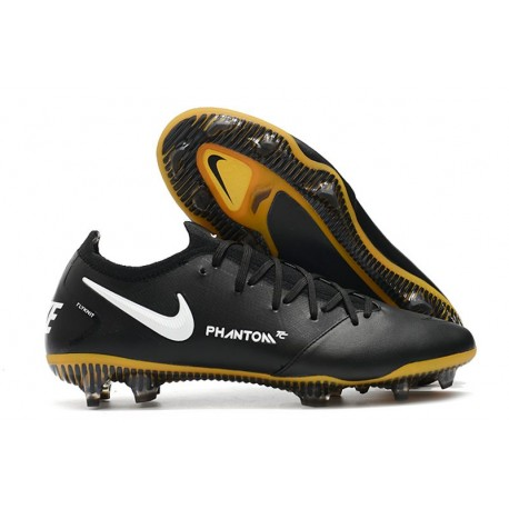 Chaussures 2021 Nike Phantom GT Elite Tech Craft FG Noir Or