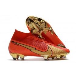Nike Mercurial Superfly 7 Elite DF FG Ronaldo CR100 Rouge Or