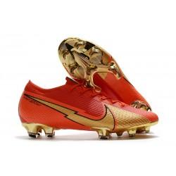 Nike Nouvel Mercurial Vapor 13 Elite FG Ronaldo CR100 Rojo Oro