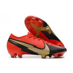 Nike Nouvel Mercurial Vapor 13 Elite FG - Rouge Noir Or