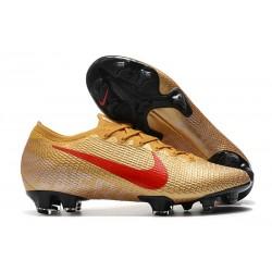 Nike Nouvel Mercurial Vapor 13 Elite FG - Or Rouge