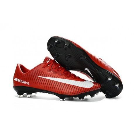 Chaussures football Nike Mercurial Vapor XI FG Homme Rouge Blanc