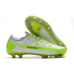 Chaussures 2021 Nike Phantom GT Elite FG Blanc Jaune