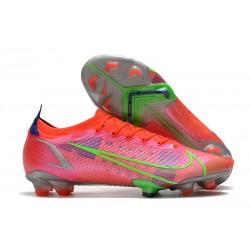 Chaussures Nike Mercurial Vapor 14 Elite FG Rubis Argent Metallique