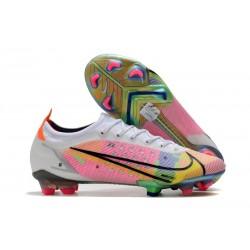 Chaussures Nike Mercurial Vapor 14 Elite FG Blanc Multicolore