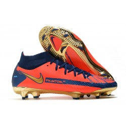 Nike Phantom Generative Texture Elite DF FG Orange Or Bleu