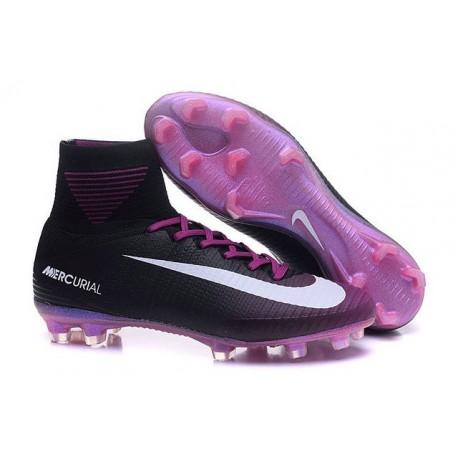 Chaussure de Football à Crampons - Nike Mercurial Superfly 5 FG - Noir Violet Blanc