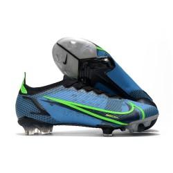 Chaussures Nike Mercurial Vapor 14 Elite FG Bleu Noir