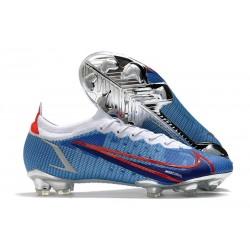 Chaussures Nike Mercurial Vapor 14 Elite FG Bleu Rouge Argent