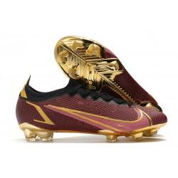 Chaussures Nike Mercurial Vapor 14 Elite FG Rouge Or