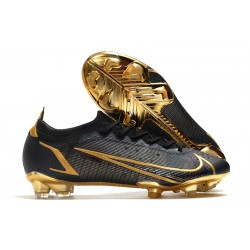 Chaussures Nike Mercurial Vapor 14 Elite FG Noir Or