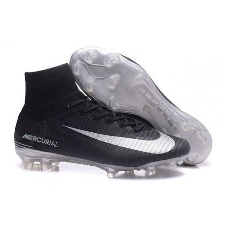 Nike Mercurial Superfly V FG ACC Ronaldo Crampons - Noir Argent