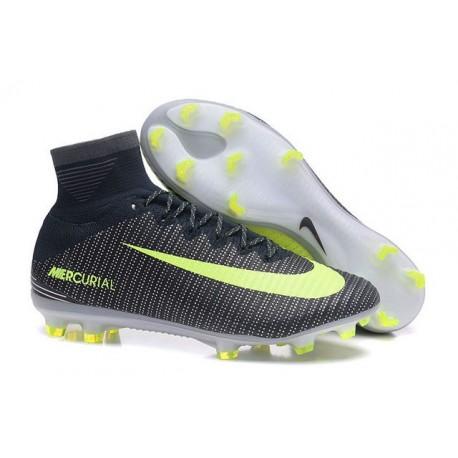 Nike Mercurial Superfly V FG ACC Ronaldo Crampons - Noir Vert