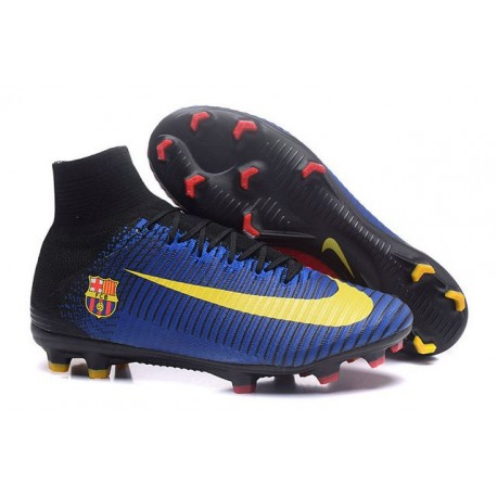 Chaussures Football Nouvelles Nike Mercurial Superfly V FG ACC - Barcelona FC Bleu