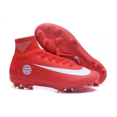 Nike Mercurial Superfly V FG ACC Ronaldo Crampons - FC Bayern München Rouge