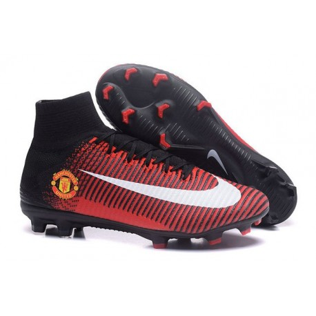 Chaussures Football Nouvelles Nike Mercurial Superfly V FG ACC - Rouge Manchester United